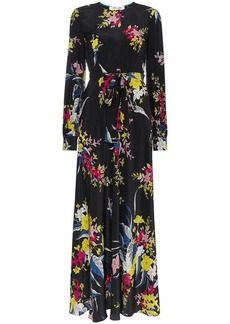Diane Von Furstenberg Silk floral maxi dress with waist tie