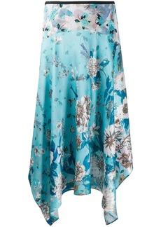 Diane Von Furstenberg silk floral print asymmetric skirt