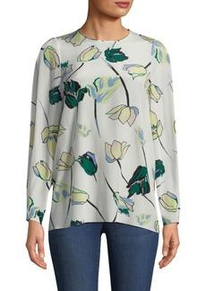 Diane Von Furstenberg Silk Floral-Print Blouse