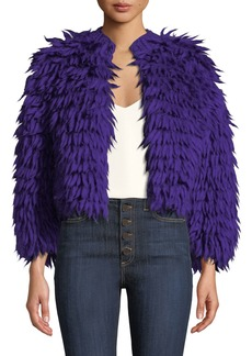 Diane Von Furstenberg Silvia Open-Front Wool Coat