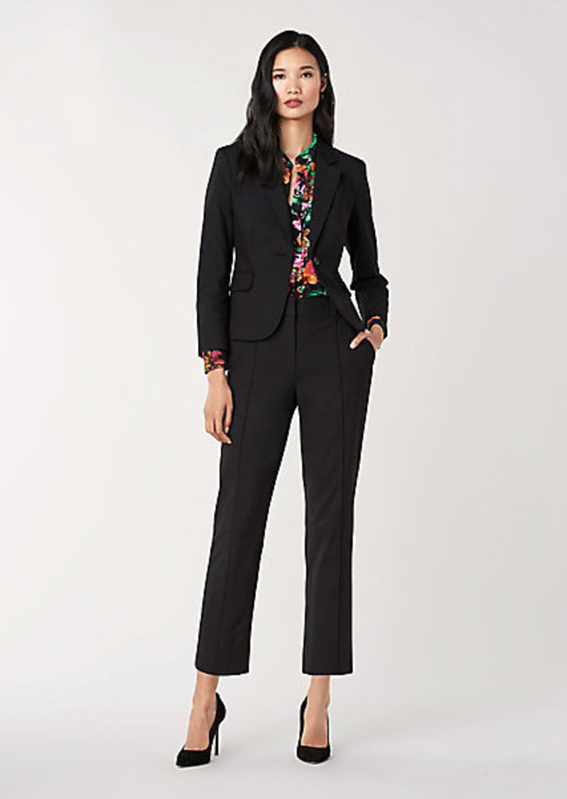 Diane Von Furstenberg Sira Cotton-Blend Fitted Blazer