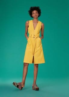 Diane Von Furstenberg Sleeveless A-Line Zip Front Denim Dress