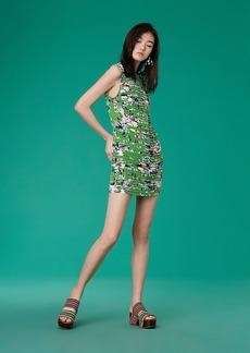 Diane Von Furstenberg Sleeveless Cinched Waist Mini Dress