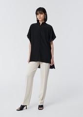 Diane Von Furstenberg Sleeveless Collared Button Down in Black