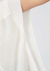 Diane Von Furstenberg Sleeveless Collared Button Down in Ivory