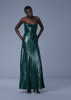 Sleeveless Cowl Neck Bias Gown