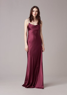 Sleeveless Cowl Neck Gown