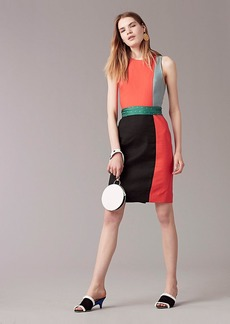 Sleeveless Paneled Tailored Dress