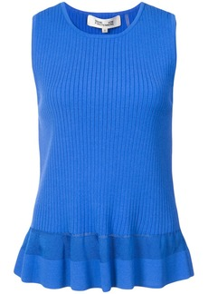 Diane Von Furstenberg sleeveless ribbed blouse