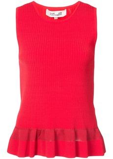 Diane Von Furstenberg sleeveless ribbed blouse