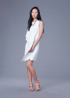 Diane Von Furstenberg Sleeveless Ruffle Front Linen Dress