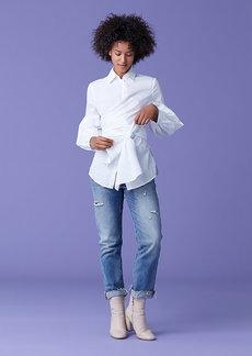 Diane Von Furstenberg Sinclair Oxford Cotton Poplin Top