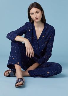 Diane Von Furstenberg Long Sleeve Zodiac Pajama Top