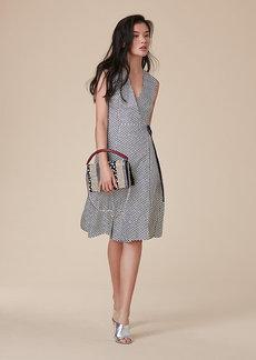 Diane Von Furstenberg Sleeveless Side Tie Flare Dress