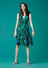 Diane Von Furstenberg Sleeveless Side Tie Flared Dress