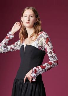 Diane Von Furstenberg Sleeveless Structured Midi Dress