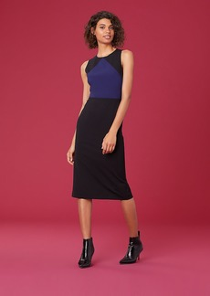 Diane Von Furstenberg Sleeveless Tailored Midi Dress