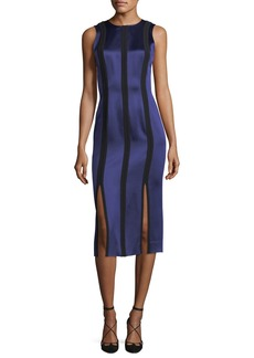 Diane Von Furstenberg Sleeveless Tailored Paneled Dress