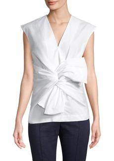 Diane Von Furstenberg Sleeveless Tie-Front Blouse