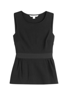 Diane Von Furstenberg Sleeveless Top with Peplum