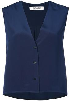 Diane Von Furstenberg sleeveless V-neck blouse
