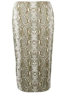 Diane Von Furstenberg snakeskin print pencil skirt