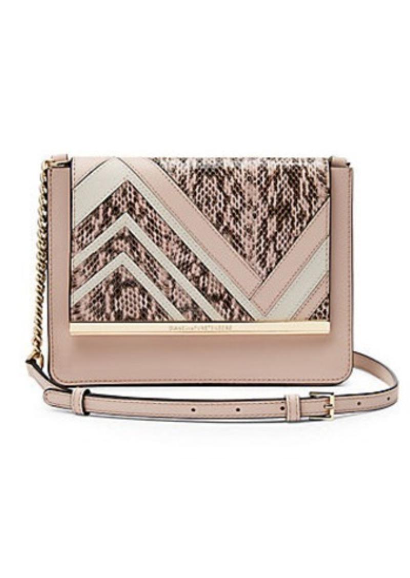 Diane Von Furstenberg Soirée Large Flap Patchwork Crossbody Bag