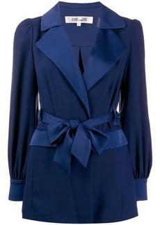 Diane Von Furstenberg Stassie satin crepe drawstring jacket