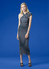 Diane Von Furstenberg Strapless Draped Front Tie Dress
