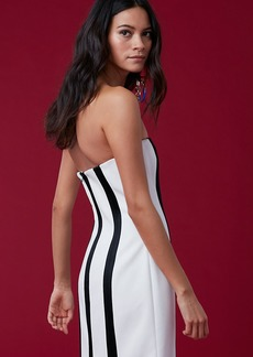 Strapless Structured Midi Dress