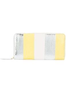 Diane Von Furstenberg striped snakeskin wallet