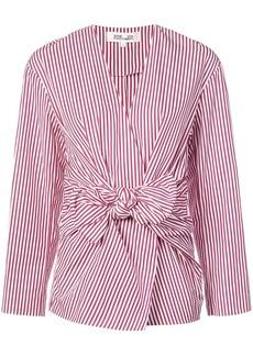 Diane Von Furstenberg striped wrap blouse