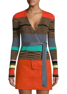 Diane Von Furstenberg Striped Wrap Sweater