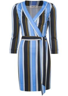Diane Von Furstenberg Sussex stripe wrap dress