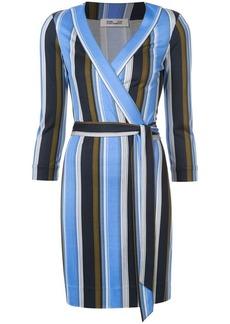 Diane Von Furstenberg Sussex stripe wrap dress