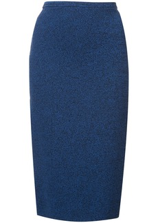 Diane Von Furstenberg Sweater Melange pencil skirt