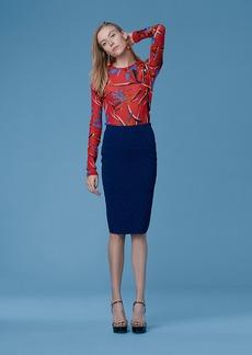 Diane Von Furstenberg Sweater Melange Skirt