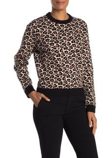 Diane Von Furstenberg Sydney Leopard Print Sweater