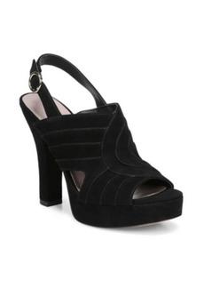 Diane Von Furstenberg Tabby Suede Platform Sandals