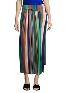 Diane Von Furstenberg Tailored Asymmetrical Overlay Skirt