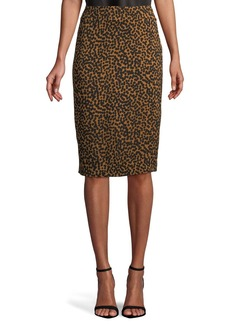 Tailored Crepe Pencil Skirt