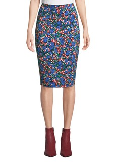 Diane Von Furstenberg Tailored Crepe Pencil Skirt