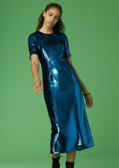 Diane Von Furstenberg Tailored Sequin Midi Dress