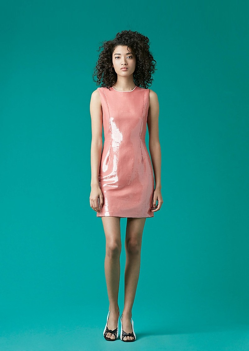 Diane Von Furstenberg Tailored Sequin Mini Dress