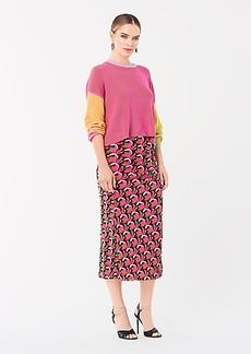 Diane Von Furstenberg Taimi Reversible Ribbed Cotton Pullover