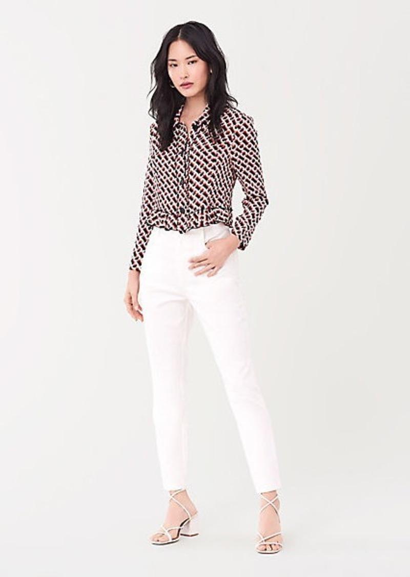 Diane Von Furstenberg Tal Silk Crepe de Chine Jacket