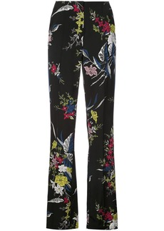 Diane Von Furstenberg Taped straight leg trousers