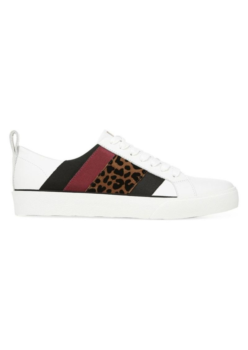 Diane Von Furstenberg Tess Leopard-Print Leather Platform Sneakers