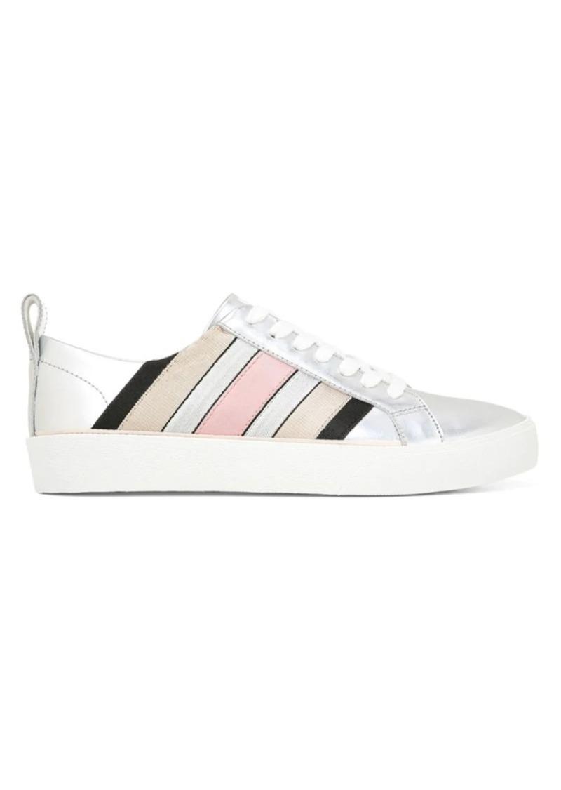 Diane Von Furstenberg Tess Metallic Leather Platform Sneakers