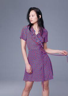Diane Von Furstenberg Savilla Silk Wrap Dress